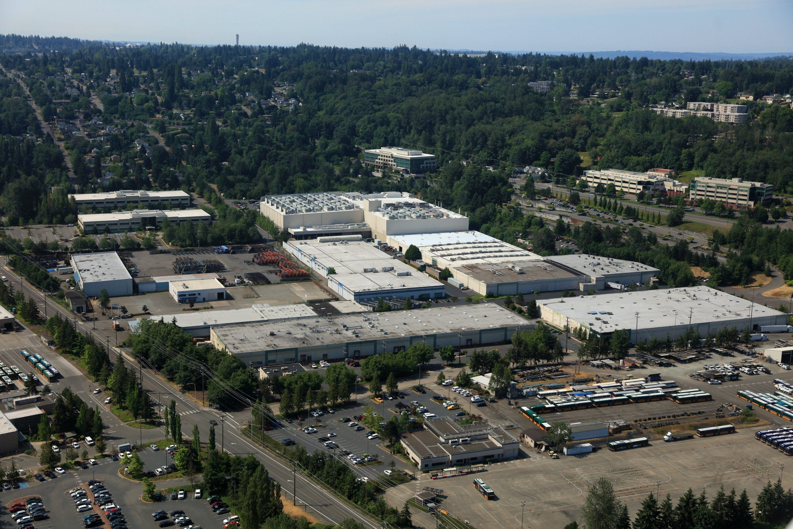 Aerial view of Sabey Seattle data center