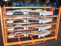 Gas Shock Assisted Powder Coated Steel Rack